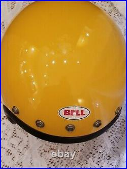 Vtg 1975 YELLOW BELL Open Face MAGNUM 3 III 5 Snap 7 1/8 Helmet Ex