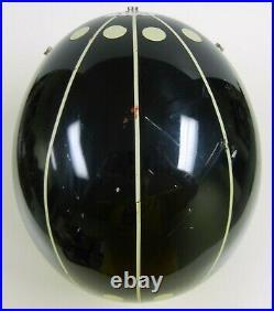 Vtg 1980 Black BELL RT R-T Open-Face Motorcycle HELMET Size 7 1/2 (60cm) L USA