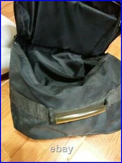 Vtg Bell Mag 4 Force Flow Open Face Motorcycle Helmet Visor White with Bag