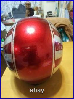 Vtg Motorcycle helmet delinquent Size M Open Face Nice Interior Vintage F/S