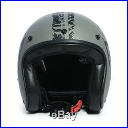 West Coast Choppers Gangscript Open Face Helmet Anthracite Brand New