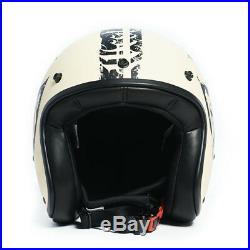 West Coast Choppers Gangscript Open Face Helmet Ivory & Black Brand New